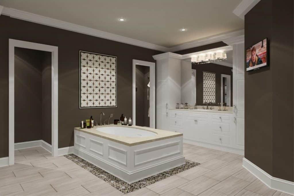 Master Bath with Drop-In Tub
