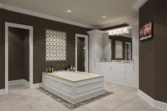 Master Bath with Drop-In Tub