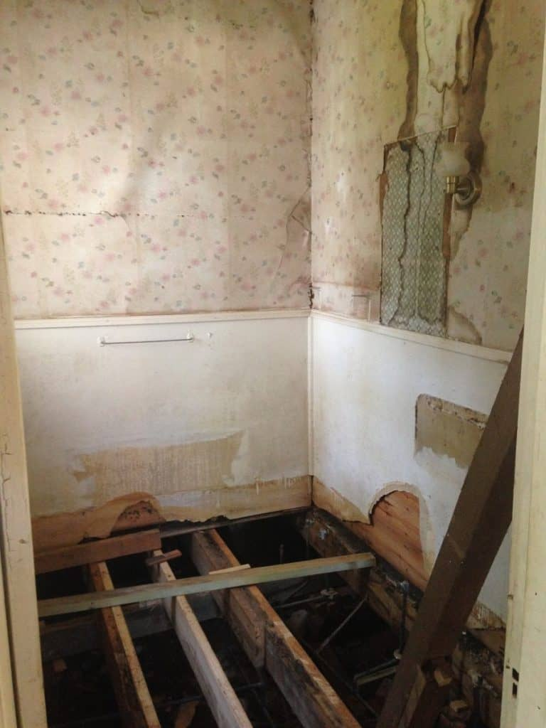 Bathtub removed for renovation