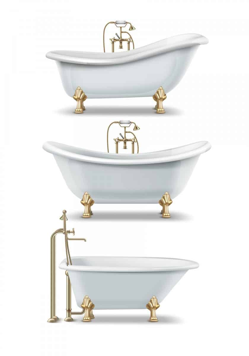 What are the styles of clawfoot tubs?