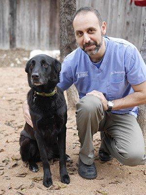 Dr. Benaryeh and his dog, Tula