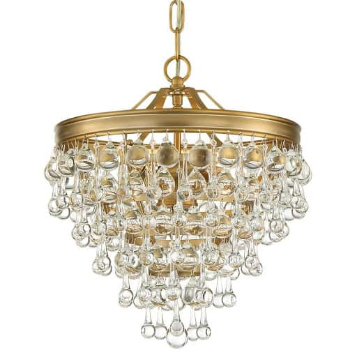 Try a mini bathroom chandelier for your statement fixture in the bathroom