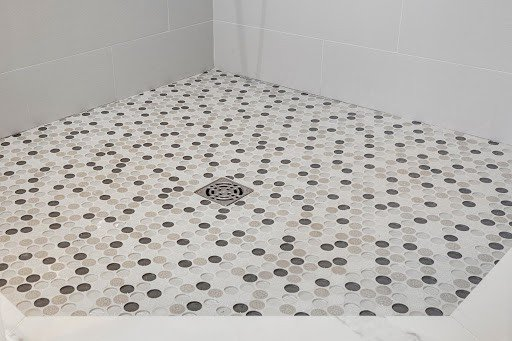 Penny Tile on Shower Floor