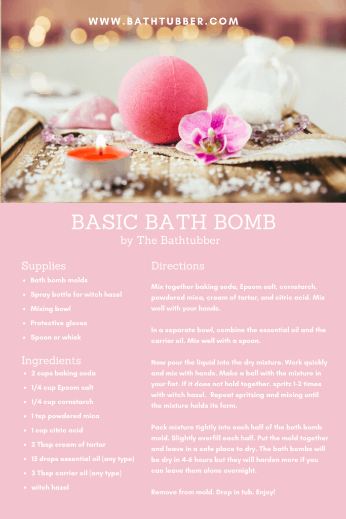 basic bath bomb recipe