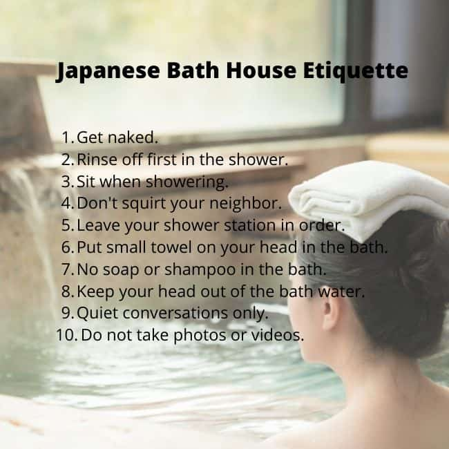 Japanese Bath House Etiquette