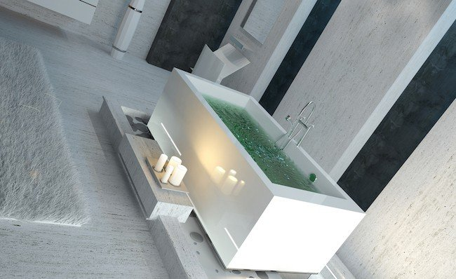 rectangular freestanding tub