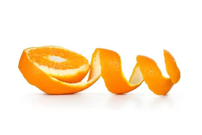 orange peel for a bath