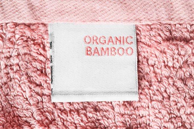 pink organic bamboo towel