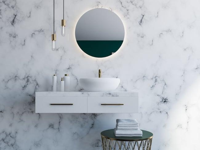 marble slab vanity backsplash