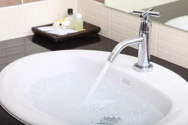 bathroom vanity with drop in sink