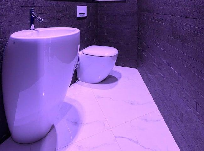 modern pedestal sink