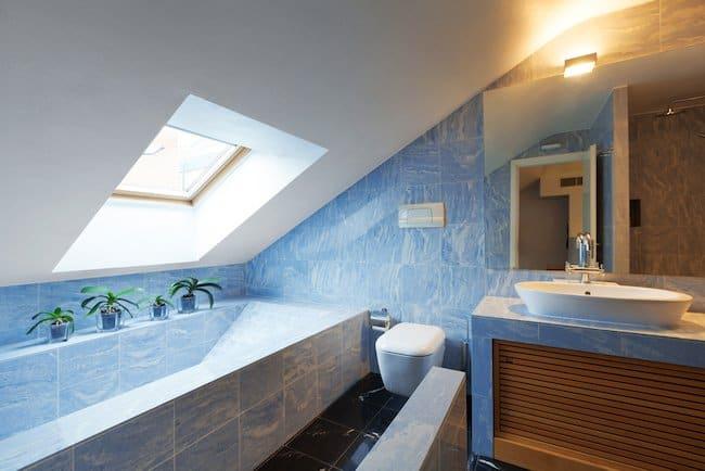 skylight over bathtub