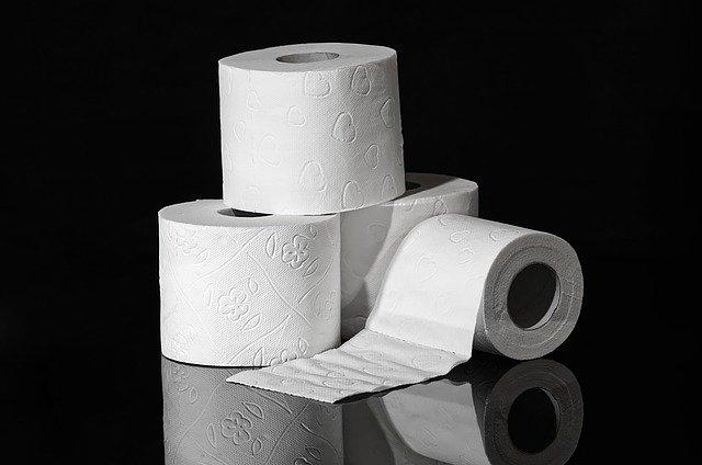 3 rolls of toilet paper